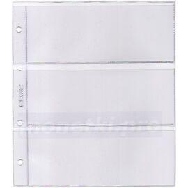 Листы (файлы) для бон на 3 ячейки (кармана), формат Нумис (Numis), производство СОМС, фото