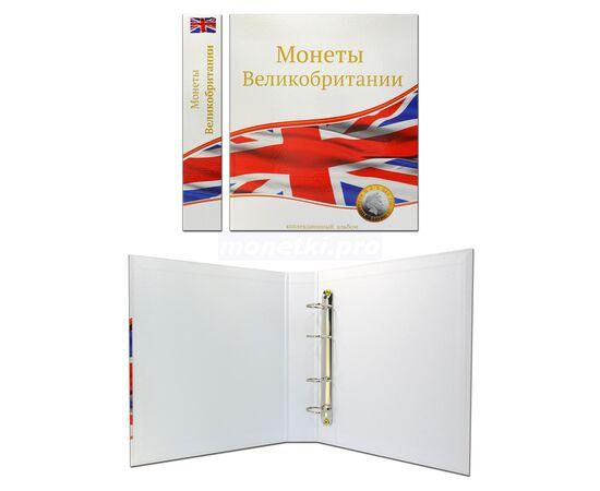 """Альбом (папка) для монет """"Монеты Великобритании"""", формат Оптима (Optima), Папки СОМС: Монеты Великобритании, фото , изображение 2"""