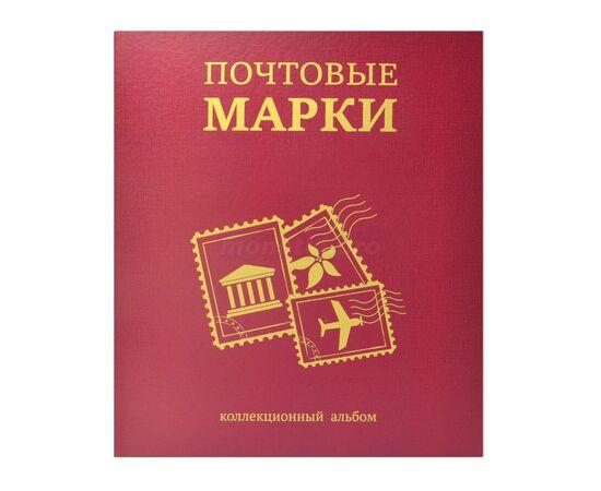 """Коллекционный альбом (папка) для марок """"Почтовые марки"""", формат Оптима (Optima), бордовый, 40 мм, Толщина корешка: 40 мм, Цвет: Бордовый, фото"""