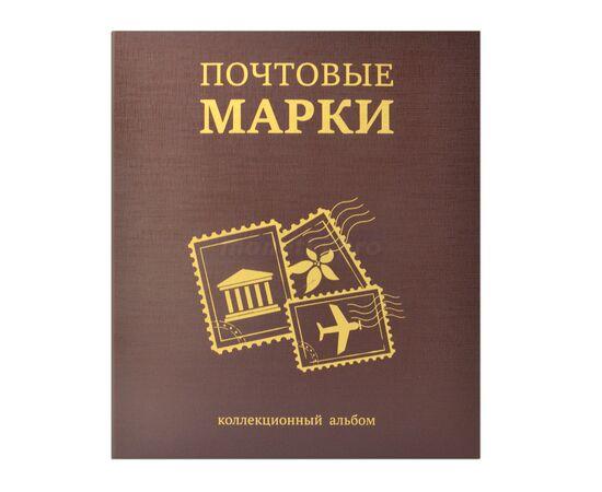 """Коллекционный альбом (папка) для марок """"Почтовые марки"""", формат Оптима (Optima), коричневый, 40 мм, Толщина корешка: 40 мм, Цвет: Коричневый, фото"""