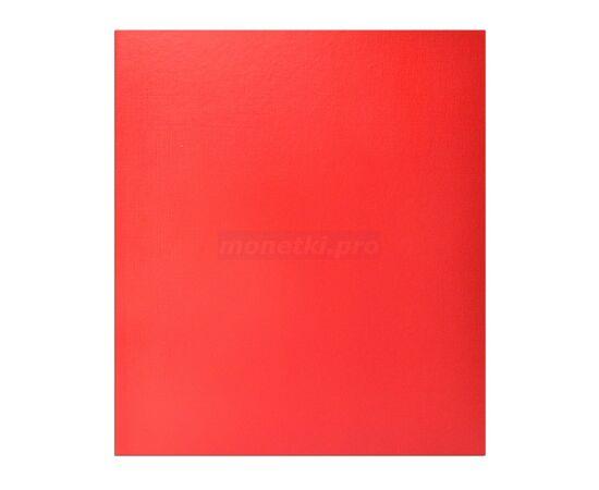 Коллекционный альбом (папка) универсальный для монет, банкнот, значков и др., формат Оптима (Optima), красный, 40 мм, Толщина корешка: 40 мм, Цвет: Красный, фото