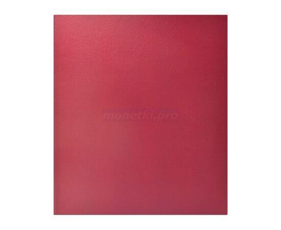 Коллекционный альбом (папка) универсальный для монет, банкнот, значков и др., формат Оптима (Optima), бордовый, 40 мм, Толщина корешка: 40 мм, Цвет: Бордовый, фото