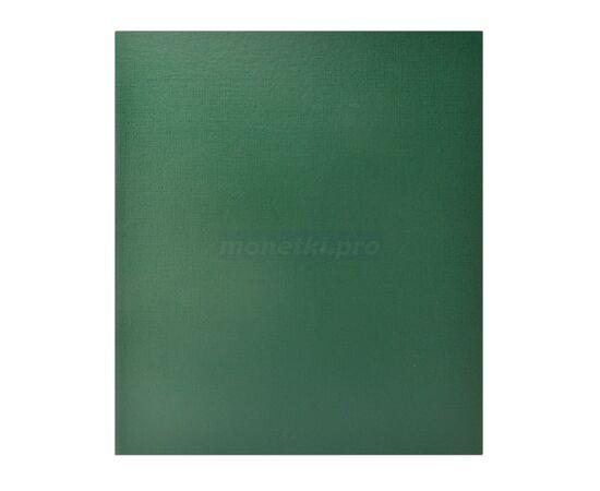 Коллекционный альбом (папка) универсальный для монет, банкнот, значков и др., формат Оптима (Optima), зеленый, 40 мм, Толщина корешка: 40 мм, Цвет: Зеленый, фото