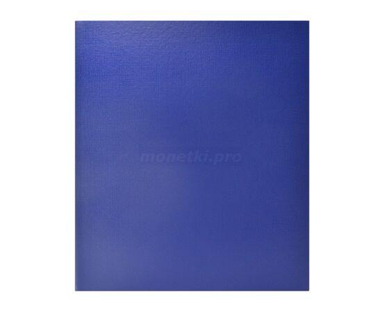 Коллекционный альбом (папка) универсальный для монет, банкнот, значков и др., формат Оптима (Optima), синий, 40 мм, Толщина корешка: 40 мм, Цвет: Синий, фото