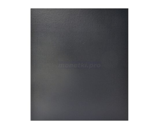 Коллекционный альбом (папка) универсальный для монет, банкнот, значков и др., формат Оптима (Optima), черный, 40 мм, Толщина корешка: 40 мм, Цвет: Черный, фото
