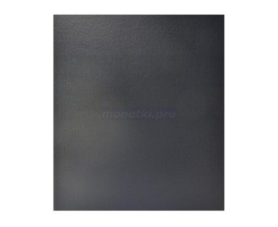 Коллекционный альбом (папка) универсальный для монет, банкнот, значков и др., формат Оптима (Optima), черный, 50 мм, Толщина корешка: 50 мм, Цвет: Черный, фото
