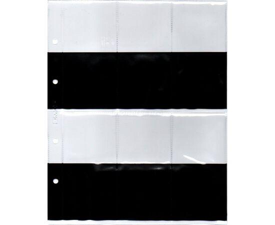 Листы (файлы) для медалей на 6 ячеек (карманов) с черными вставками, формат Оптима (Optima), производство СОМС, фото